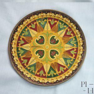 Beautiful decorative small brass plate